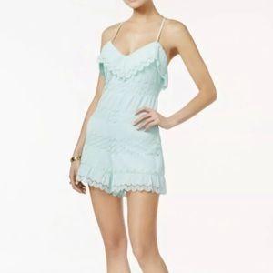 NWT GUESS Vita Sleeveless Fabric/Lace Romper